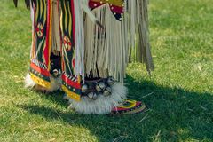 Colorful costume on the lower half, Pow Wow, Malibu royalty free stock photos