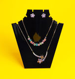 Colorful  costume necklace Royalty Free Stock Photography