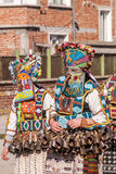Colorful costumes and masks Royalty Free Stock Photos