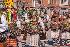 Colorful costumes and masks Royalty Free Stock Photo