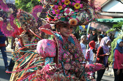 Colorful Costumes in The Street Performance Royalty Free Stock Images