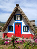 Colorful Cottage. Near São Vicente Royalty Free Stock Photo