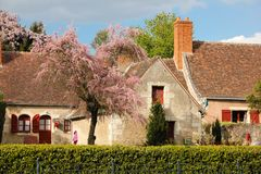 Colorful Cottage . Chenonceau. France Royalty Free Stock Images