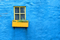 Colorful Cottage Window, Kinsale, County Cork Stock Images