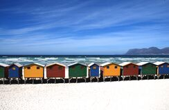 Colorful Cottages Near the Sea Under Blue Sky during Daytime Stock Photos