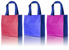 Colorful cotton bag Royalty Free Stock Images