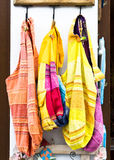 Colorful cotton bags Stock Photography