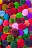 Colorful cotton ball Stock Image