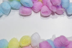 Colorful cotton balls background Royalty Free Stock Image