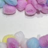Colorful cotton balls background Stock Photography