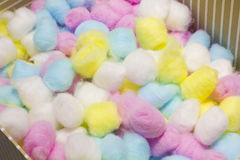 Colorful cotton balls Stock Photography
