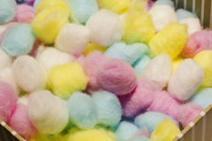 Colorful cotton balls Stock Photo