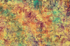 Colorful cotton batik Stock Photography