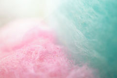 Colorful cotton candy in soft color Royalty Free Stock Images
