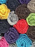 Colorful cotton clothes as a background Stock Images