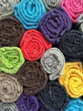 Colorful cotton clothes as a background Royalty Free Stock Images