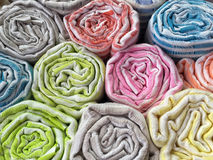 Colorful cotton clothes as a background Royalty Free Stock Photos