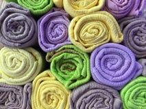 Colorful cotton clothes as a background Stock Photos