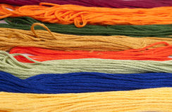 Colorful cotton craft thread Stock Images