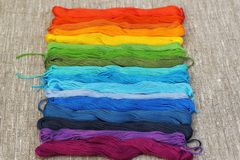 Colorful cotton craft threads Royalty Free Stock Photography