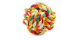 Colorful cotton dog toy Royalty Free Stock Images