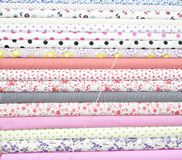 Colorful Cotton Fabric Stock Images