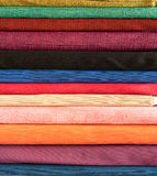Colorful cotton fabric Royalty Free Stock Photo