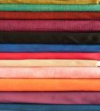 Colorful cotton fabric. Fine fabrics beautiful silk Royalty Free Stock Photo