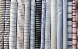 Colorful cotton fabric. Fine fabrics beautiful silk Royalty Free Stock Image