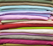 Colorful cotton fabric Stock Photos