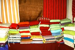 Colorful cotton fabrics Royalty Free Stock Photos