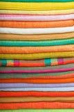 Colorful cotton fabrics Stock Photos