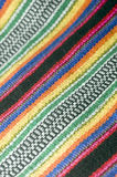 Colorful cotton material textile  for Colombian men's shoulder b Royalty Free Stock Photo