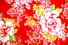 Colorful  cotton motif Stock Photography