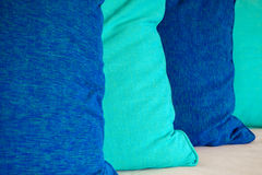 Colorful cotton pillow Stock Images