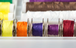 Colorful Cotton Reels Royalty Free Stock Image