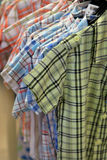Colorful cotton shirts Royalty Free Stock Photos
