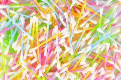 Colorful cotton swabs Royalty Free Stock Images