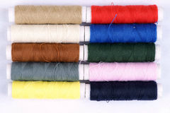 Colorful cotton thread background Stock Image