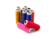 Colorful cotton thread Stock Photos