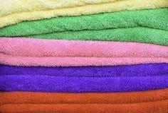 Colorful cotton towels Stock Photos