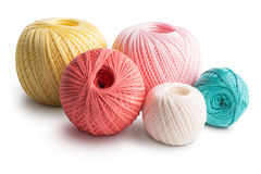 Colorful cotton yarn Royalty Free Stock Images