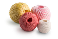 Colorful cotton yarn Stock Images