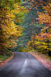 Colorful country roads in October. Stock Photo