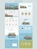 Colorful country scenery one page website design template Stock Image