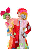 Colorful couple royalty free stock photography