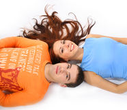 Colorful couple Stock Photos