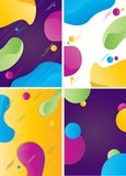 Colorful cover collection with bubble shapes royalty free stock photos