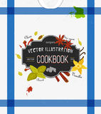 Colorful cover for cookbook, notebook with spices Royalty Free Stock Photography