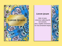 Colorful cover with pattern in oriental vintage style.  Royalty Free Stock Photography
